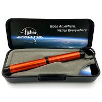 Fisher Space Pens Backpacker Pen, Colored Aluminum w/Key Chain, Orange