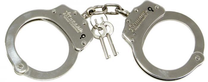 Schrade SCHC Professionals Chain Link Handcuff Nickel-Plated Finish