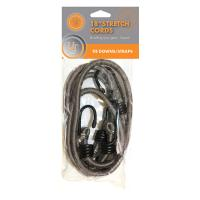 "Stretch Cord - 18"" 2-pack, Gray"