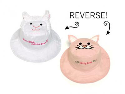 Luvali Convertibles Lamb/Kitten Reversible Kids' Hat Large