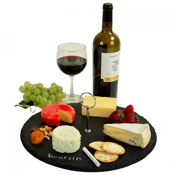 Picnic at Ascot Selva Slate Cheese Board with Soapstone Chalk