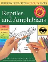 Peterson Books Reptiles & Amphibians Color-In-Book