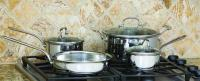 Cook Pro  506 7-Piece Tri-Ply Stainless Steel Cookware Set