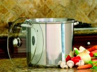 Cook Pro 16Quart Stainless Steel Stock Pot With Glass Lid