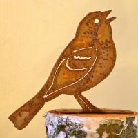 Elegant Garden Design Vesper Sparrow Bird Silhouette