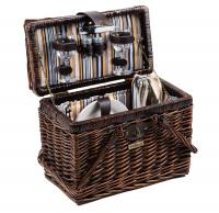 Picnic and Beyond Willow Picnic Basket for 2, Brown