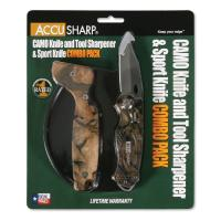AccuSharp Sharpener & Sport Folding Knife Combo - Camouflage