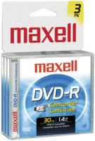 Maxell 567622 - DVDRCJC3PK Camcorder DVD-R with Jewel Cases, 3-Pack