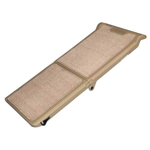 "Pet Gear Short Bi-Fold Carpeted Pet Ramp Tan 42"" x 16"" x 4"""
