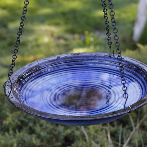 Byer of Maine Hanging Style Circles Bird Bath - Cobalt Blue