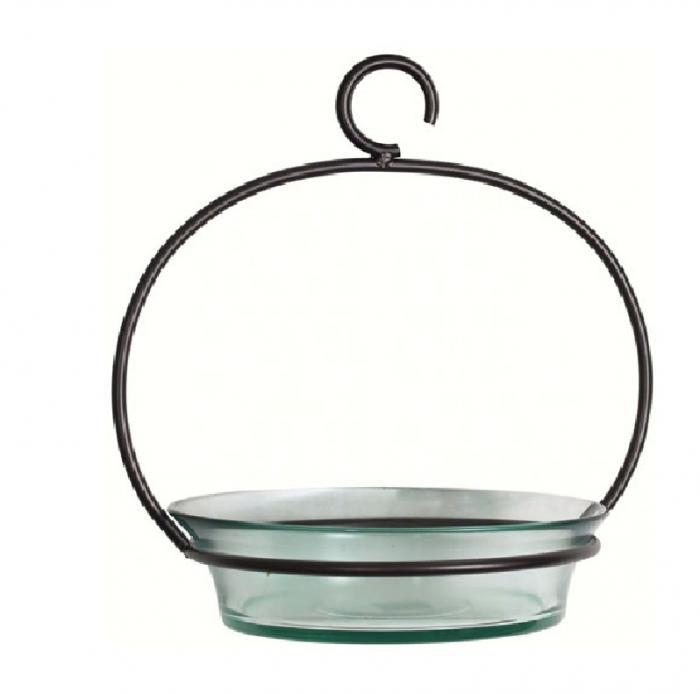Couronne Company Clear Cuban Bowl Birdbath