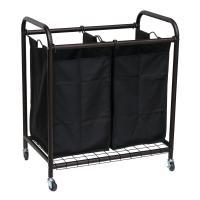 Oceanstar 2-Bag Rolling Laundry Sorter, Bronze