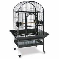 Medium Dometop Parrot Cage - Black