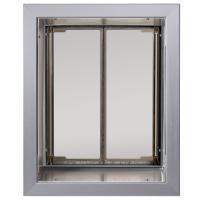 PlexiDor Large Exterior Wall Unit Performance Pet Door, Silver