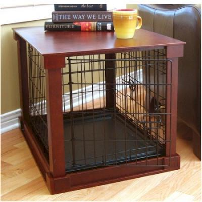 Dog Crate With Wooden Cover - Large