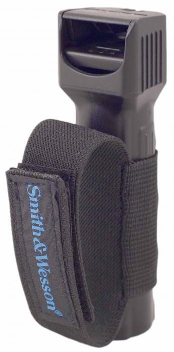 Smith & Wesson Pepper Shield Flip Top Pepper Spray Keychain with Velcro Strap , .75-Ounce