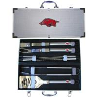 College 8 pc BBQ Set - Arkansas Razorbacks