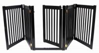 Walk Through 5 Panel Free Standing Pet Gate - Black