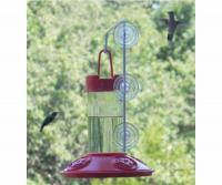 Songbird Essentials Dr. JB's 16 Ounce Hummingbird Bird Feeder, All Red w/SE077 Hanger
