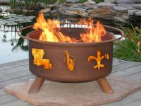 Mardi Gras Hand Crafted Steel Fire Pit