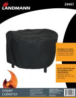 Landmann USA FIRE ROCK Fire Pit, Grill & Rotisserie Cover Black Polyester with PVC