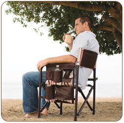 Picnic Time Sports Camping Chair-Moka