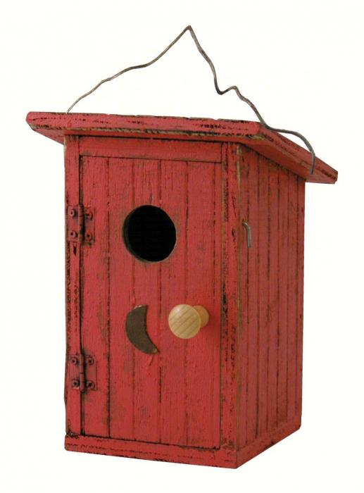 Songbird Essentials Birdie Loo Red Birdhouse
