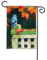 Magnet Works Autumn Blue Jay Garden Flag