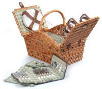 Picnic & Beyond Marina Collection - (B) 4 person Willow Picnic Basket