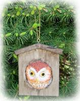 Songbird Essentials Owl Houe Ornament