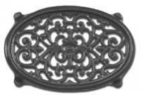 John Wright Company Trivet, Oval Filigree - Black