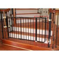 Wrought Iron Decor Gate Extension - Black