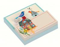Chronicle Books Avian Friends Birdhouse Shaped Memo Pad