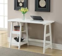 Convenience Concepts  Trestle Desk (White)