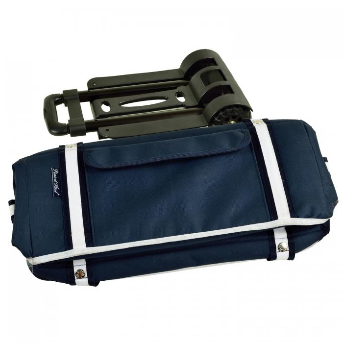 Picnic at Ascot Extra large Hybrid Semi-Rigid Folding Cooler with Wheels-Navy