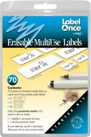 Jokari Erasable MultiUse Labels Starter Kit, 70 labels