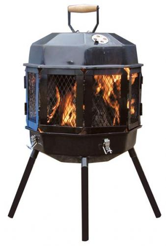 MasterBuilt  The Grizzly Cub Portable Fireplace and Grill