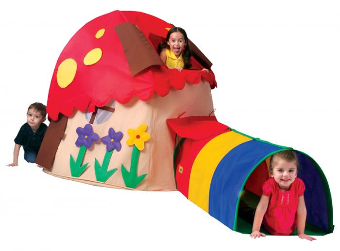 Bazoongi Kids Mushroom House Play Structure
