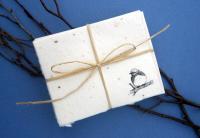 Cast Paper Art Note Cards - Bluebird (1 pk - 10 cards)