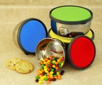 Cookpro Stainless Steel 8Pc Storage Bowls With Colored Lids