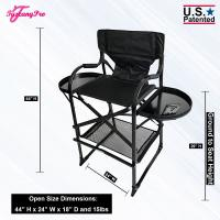 """Tuscany Pro Tall Makeup Artist Portable Chair - Seat Height 29"""""""