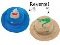 Luvali Convertibles Shark/Alligator Reversible Kids Hat Medium