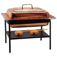 Old Dutch Rectangle Decor Copper Chafing Dish 8 Qt