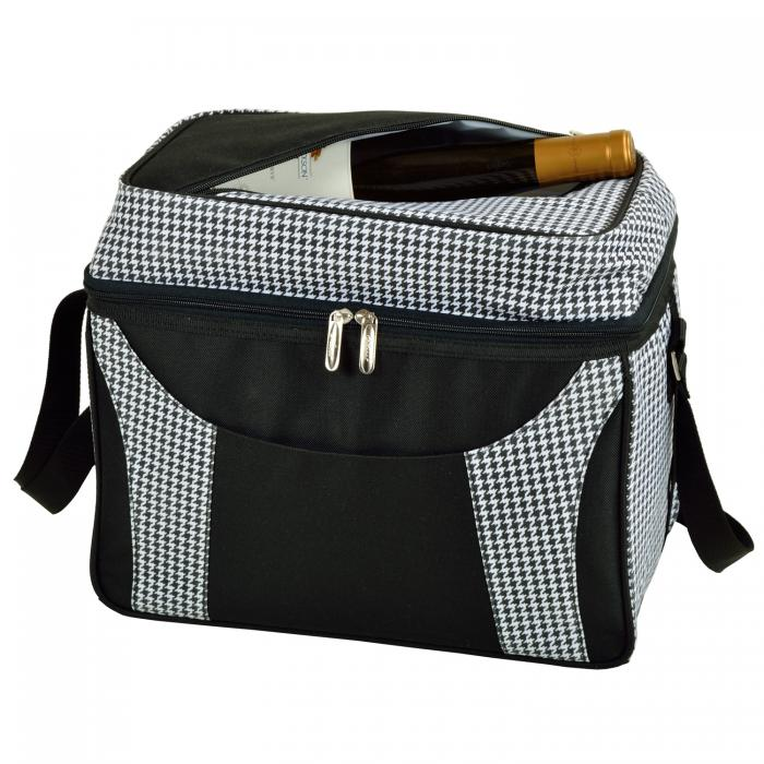 Picnic at Ascot Collapsible 36 Can Cooler -  Houndstooth/Black
