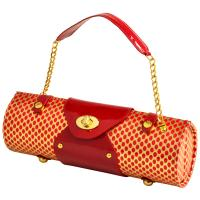 Picnic at Ascot Wine Purse - Patent Red