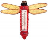 Songbird Essentials Red Dragonfly Small Window Thermometer