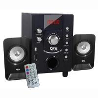 QFX 2.1 Channel NFC Bluetooth Shelf System Black