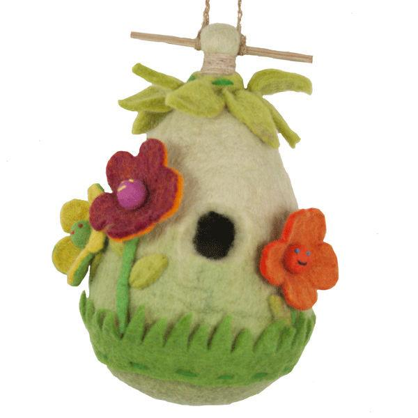 DZI Handmade Designs Friendly Flower Felt Birdhouse