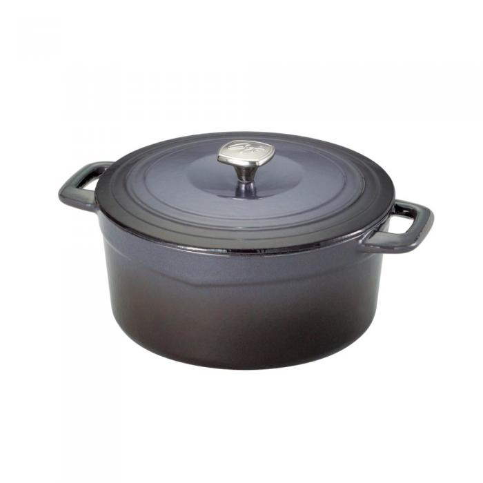 Guy Fieri 5.5qt Dutch Oven Black Porcelain Cast Iron