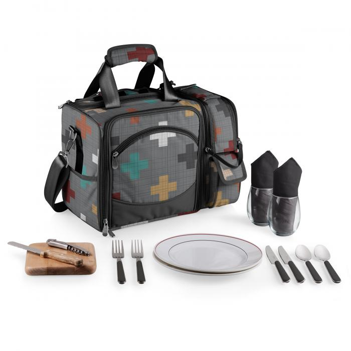 Picnic Time Laguna Picnic Tote for Two (Pixels Collection)